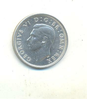 Very Nice Rare.british.one Shilling 1943.unc.in Silver..very Collectable.e.347