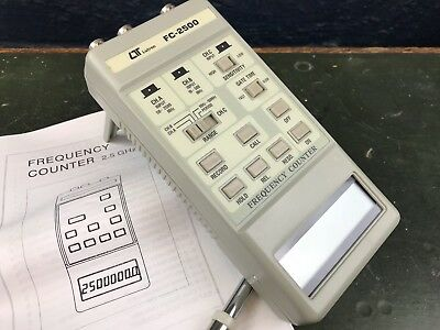Lutron Fc 2500 Frequency Counter Digital Instrument-Instructions & Boxed