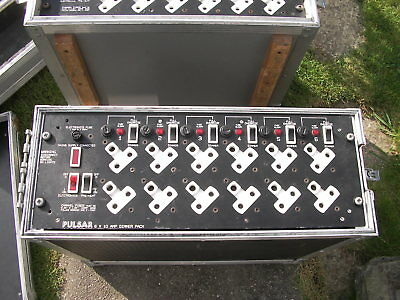 Pulsar 6 Channel 10Amp Dimmer Packs  Analogue. Flightcased Stage Lighting