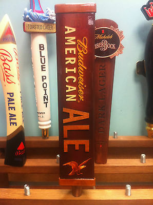 Budweiser American Ale - Bar Keg Wood Tap Handle - NEW Old Stock F/Shipn. 12""