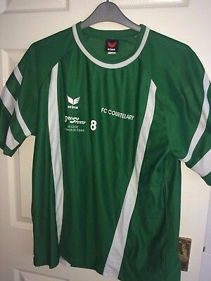 Fc Courtelary Mens Large 44-46C Green Short Sleeved Football Shirt (Ex Cond)