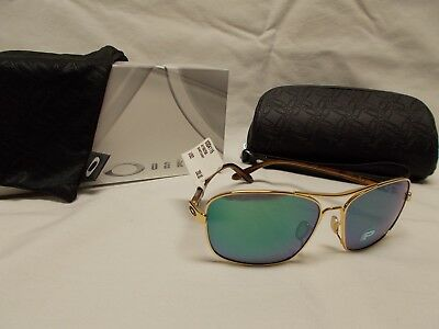 oo4116-07 OAKLEY SUNGLASSES SANTUARY POLISHED GOLD JADE IRIDIUM POLARIZED LENS