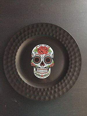 "Day Of The Dead Dia De Muertos Sugar Skull Decorative Plate Tray 13"" Huge New!"