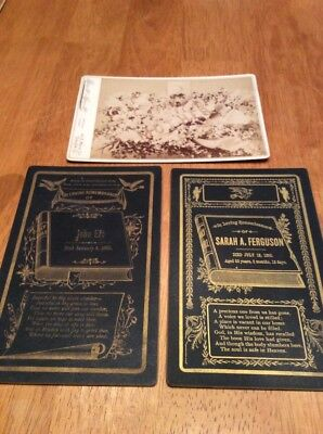 4 Victorian Death / Funeral Mourning Cabinet cards 1886-92 Watson Eat Ferguson