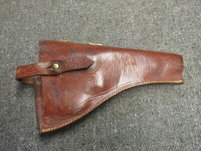 Wwi British Army Enlisted Holster For Webley Mark Vi Revolver-Original-1916 Date