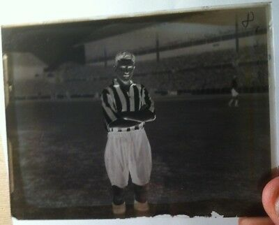 1 X Football / Antique Glass Negative Photography Plate . Historical Images