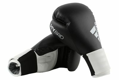 Adidas Boxing Gloves Hybrid 100 Black & White Sparring 8 10 12 14 16 oz