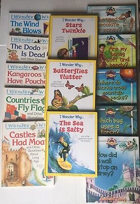 Lot of 13 Hardcover I Wonder Why Series / Ask Me Why Series Educational Books