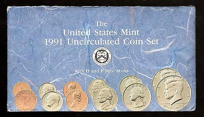 1991 U.s. Uncirculated Set In Mint Cond. ( D & P Mint Marks )