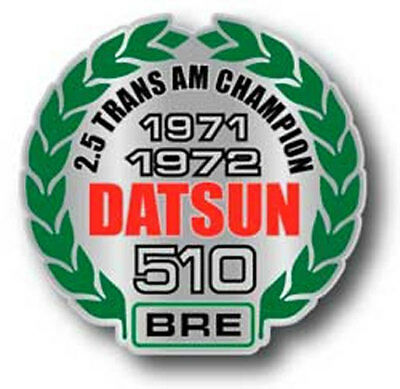 BRE Datsun 510 Grill/Vent Badge sold by Peter Brock