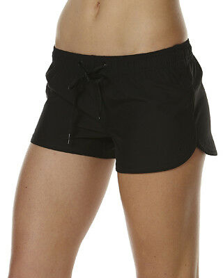Rip Curl Women's Board Shorts Elasticated Waistband Black Size 14