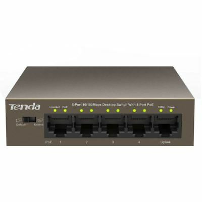 Tenda TEF1105P-4-63W 5-Port 10/100Mbps Desktop PoE Switch with 4 Port POE