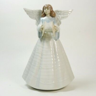 Lladro Angelic Cymbalist Christmas Tree 5876 Angel Figurine by Francisco Catala