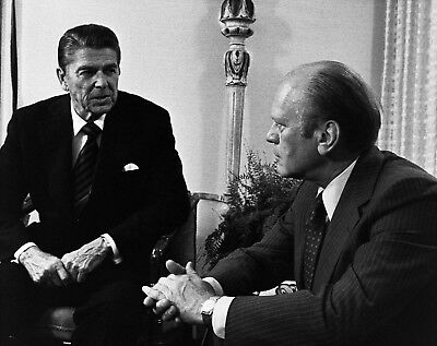 8 X 10 Reproduction Photo Of Presidents Ronald Reagan & Gerald Ford