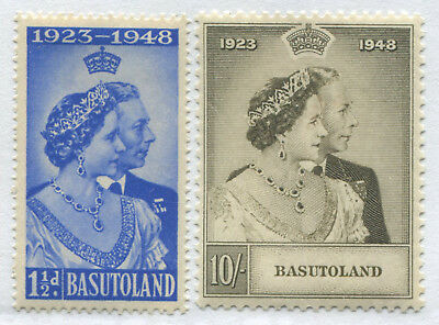 Basutoland KGVI 1948 Silver Wedding set of 2 mint o.g.
