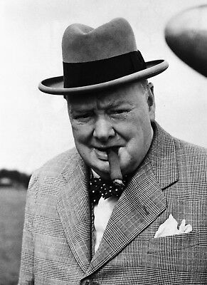 8 X 10 Reproduction Photo Of Winston Churchill