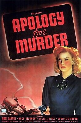 8 X 10 Reproduction Movie Poster Photo Of Apology For Murder