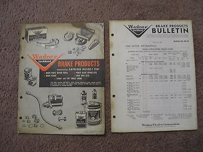 1961 Wagner Brake Products & 1961 Wagner Bulletin