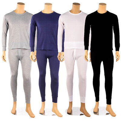 Mens 2pc 100% COTTON Thermal Underwear Set Long Johns Top & Bottom New M L XL 2X