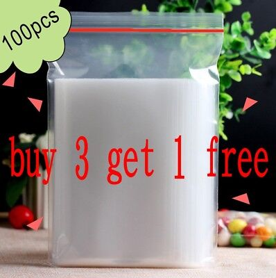 Resealable Zip Lock Bags Clear Plastic 2Mil ziplock Reclosable Bag 100pcs/Bags