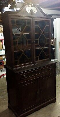 Antique dining room hutch China cabinet