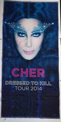"Cher Dressed To Kill Tour 2014 Beach Towel 53"" Collectible"