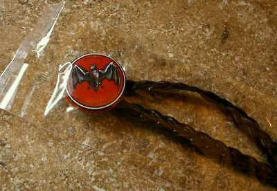 BACARDI Thin Braided Headband with Bacardi BAT LOGO PIN Original Package