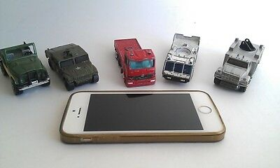 Vintage cast iron Matchbox toy cars collection