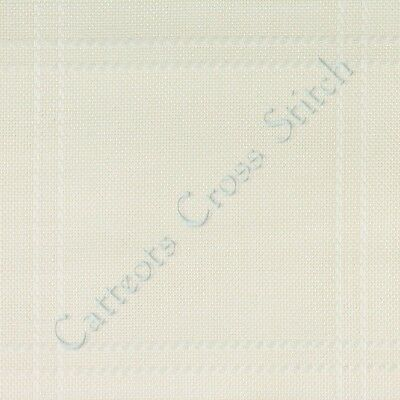 """Baby Anne Cloth Afghan Polyacrylic White To Cross Stitch 45"""" x 28"""" 18 Count"""