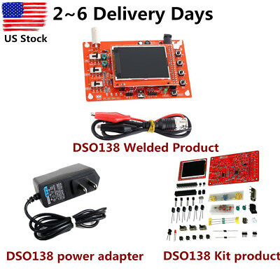 "DSO138 2.4"" TFT Digital Oscilloscope Acrylic Case DIY Kit SMD Soldered R2C0 THE"
