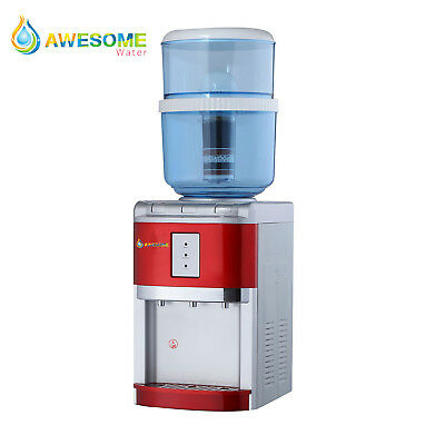 Awesome WATER NEW Bench Top Hot Cold and Ambient Dispenser in Red