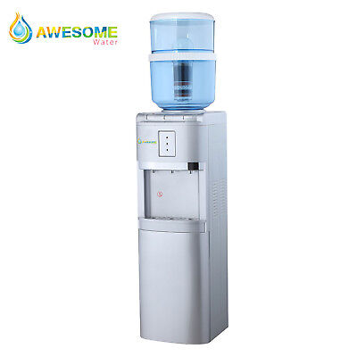 Awesome Water Floor Standing Hot Cold and Ambient Dispenser In silver