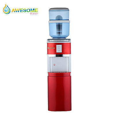 AWESOME WATER  Cooler Floor Standing Hot Cold and Ambient Dispenser In red
