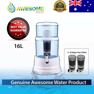 NEW BenchTop Water Purifier AWESOME WATER FIILTER PURIFIER CERAMIC CARBON 16L