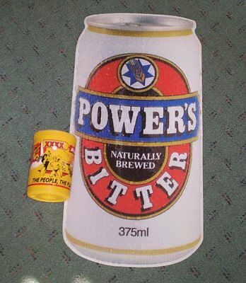 Old Beer sign - corflute - Powers Bitter  -  Can  -   59 cms high