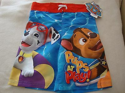 PAW PATROL boy's swimtrunks  NWTS. PUPS AT PLAY MARSHALL, CHASE & RUBBLE