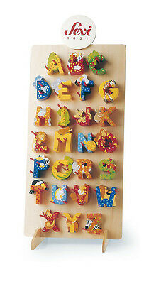 Letters wood SEVI ALPHABET ANIMALS For Children's rooms Shipping Traced