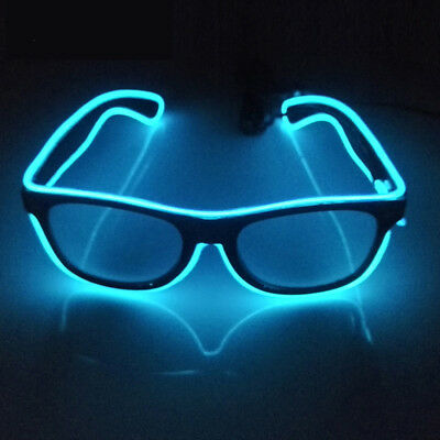 EL Wire LED Light Up Glow Sunglasses  Eyewear Shades for Nightclub Party Glasses