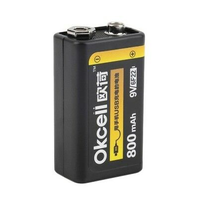 9V 800mAh OKcell USB Rechargeable Lipo Battery For Helicopter Model Microphone