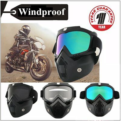 Arrival Detachable Modular Face Mask Shield Goggles For Motorcycle Bike Helmet A