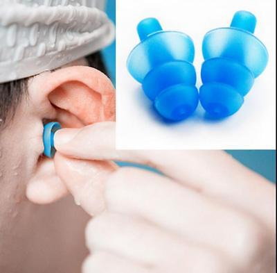 1 pair Anti Noise Snore Earplugs Silicone Ear Plugs Comfortable For Study Sleep