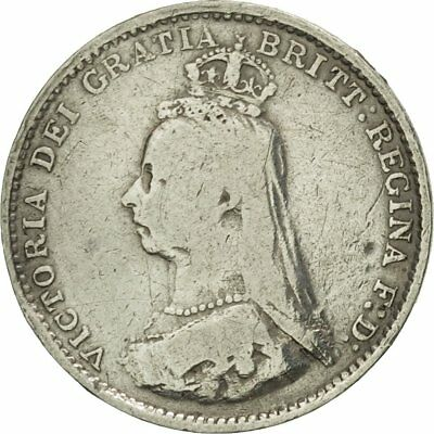 [#424010] Great Britain, Victoria, 3 Pence, 1887, VF(30-35), Silver, KM:730