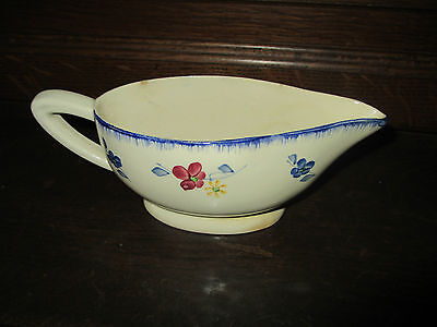 Ancienne  Sauciere Mary Lou  Signee Sarreguemines  Forme  Aladin