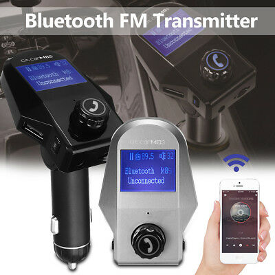 Wireless Bluetooth FM Transmitter Car Handsfree Kit USB Charger MP3 Player LCD