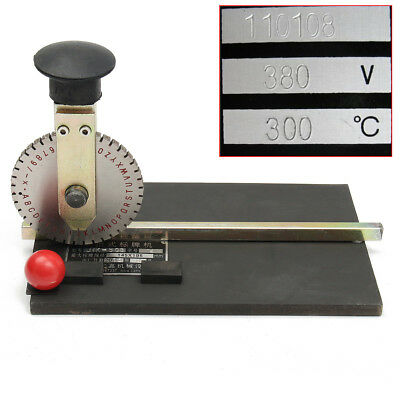 AU Manual Metal Embossing Machine Deboss Label Tag Plate Stamping Embosser Print