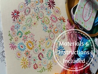 Beginners Traditional Embroidery Kit:Beginner Blossoms (Brt) Kits By Maggie Gee