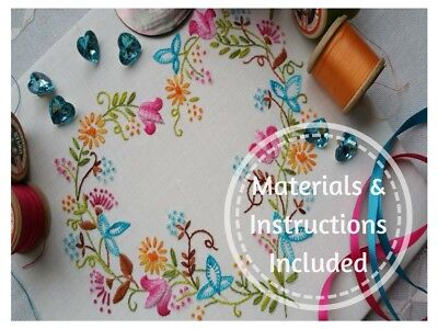 Traditional Transfered Embroidery Kit : Tranquility Brights; Kits by Maggie Gee