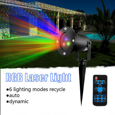 Outdoor RGB Laser Stage Lighting Dynamic Garden Party Xmas Projector Disco Light