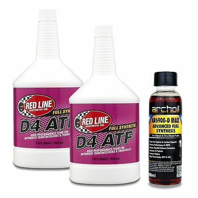 2 x Red Line D4 ATF Automatic Transmission Gear Oil - 946ml