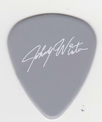 RaRe JOHNNY WINTER signature GUITAR PICK Pewter RIP JDW BLUES GREAT Collectible
